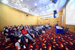Mensen op conferentie Stockinrussia Royalty-vrije Stock Afbeelding