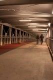 Mensen op de brug stock fotografie