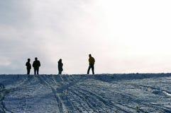 Mensen op de sneeuw Stock Foto