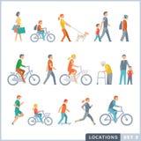 Mensen op de straat buren Royalty-vrije Illustratie