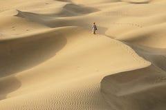 Mensen op de woestijn Royalty-vrije Stock Fotografie