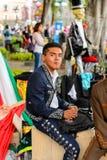 Mensen op Dia DE los Muertos in Mexico Stock Foto's