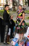 Mensen op Dia DE los Muertos in Mexico Stock Afbeeldingen
