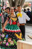 Mensen op Dia DE los Muertos in Mexico Royalty-vrije Stock Foto's