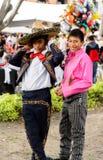 Mensen op Dia DE los Muertos in Mexico Stock Afbeelding