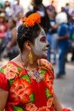 Mensen op Dia DE los Muertos in Mexico royalty-vrije stock foto