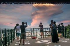 Mensen op gezichtspunt in Thailand Royalty-vrije Stock Afbeelding