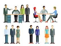 Mensen op personeelsvergadering Stock Foto