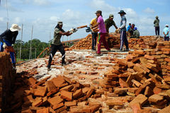 Mensen op Sandahiru Seya Stock Foto