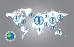 Mensen op sociaal netwerk royalty-vrije illustratie