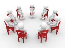 Mensen op stoelen Royalty-vrije Stock Foto's