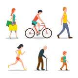 Mensen op straat stock illustratie
