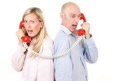 Mensen op telefoon Royalty-vrije Stock Foto's