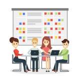 Mensen op vergadering vector illustratie