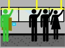 Mensen in openbaar vervoer Stock Afbeelding