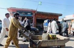Mensen in Pakistan - het dagelijks leven Stock Fotografie
