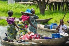 Mensen in PORTO-NOVO, BENIN royalty-vrije stock afbeeldingen