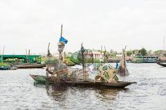 Mensen in PORTO-NOVO, BENIN royalty-vrije stock fotografie