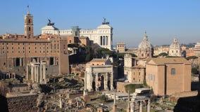Mensen in Roman Forum stock video
