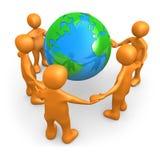 Mensen rond de Wereld stock illustratie