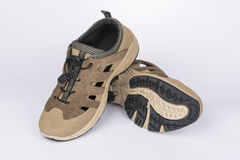 Mensen` s beige schoenen Royalty-vrije Stock Afbeeldingen