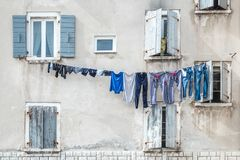 Mensen` s gewassen wasserij Stock Foto