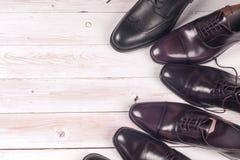 Mensen` s schoenen op witte achtergrond Stock Fotografie