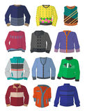 Mensen` s sweaters in vlak ontwerp Royalty-vrije Stock Fotografie