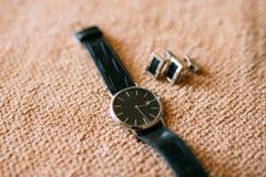 Mensen` s Toebehoren: Mensen` s vlinder, schoenen, horloges Royalty-vrije Stock Foto