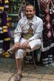 Mensen in Sana'a, Yemen royalty-vrije stock fotografie
