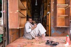 Mensen in Sana'a, Yemen Stock Afbeelding