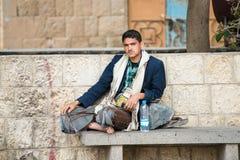 Mensen in Sana'a, Yemen Royalty-vrije Stock Foto's