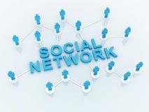 Mensen Sociaal Netwerk vector illustratie