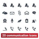 Mensen Sociaal Netwerk, Internet-Communicatie Pictogrammen stock illustratie