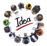 Mensen Sociaal Voorzien van een netwerk en Ideeconcept royalty-vrije stock foto's