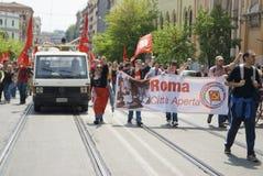 Mensen tegen Fascisme Royalty-vrije Stock Afbeeldingen