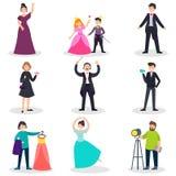 Mensen in Theaterreeks stock illustratie
