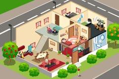 Mensen thuis vector illustratie