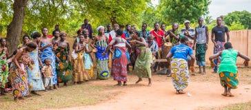 Mensen in Togo, Afrika Stock Foto's