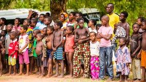 Mensen in Togo, Afrika Stock Afbeelding