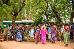 Mensen in Togo, Afrika Stock Foto