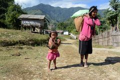 Mensen van Arunachal Pradesh Royalty-vrije Stock Foto