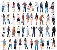 Mensen van de inzamelings de Achtermening Stock Foto