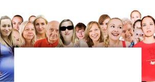 Mensen van de wereld en lege raad royalty-vrije stock foto