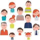 Mensen van diverse leeftijden met vectorillustratie Stock Afbeelding