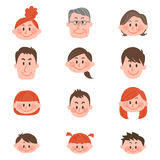 Mensen van diverse leeftijden met vectorillustratie Stock Foto's