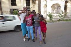 Mensen van Havana Stock Foto