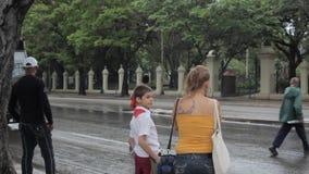 Mensen van Havana stock video