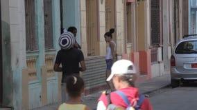 Mensen van Havana stock footage
