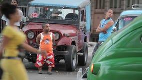 Mensen van Havana stock videobeelden